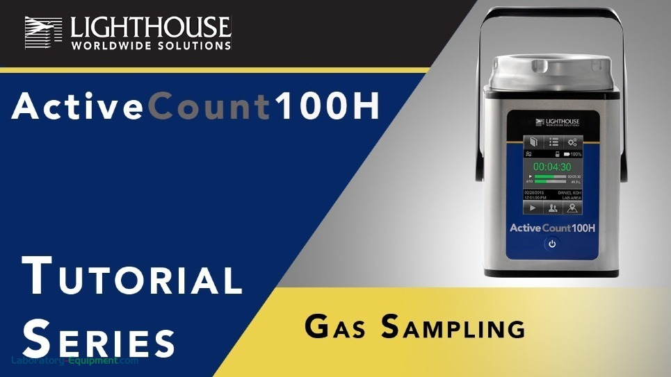Gas Sampling with Lighthouse ActiveCount Microbial Air Sampler by LWS
