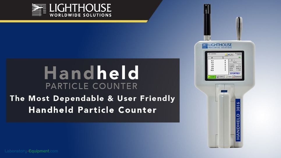 Video of Lighthouse Handheld Particle Counters by LWS