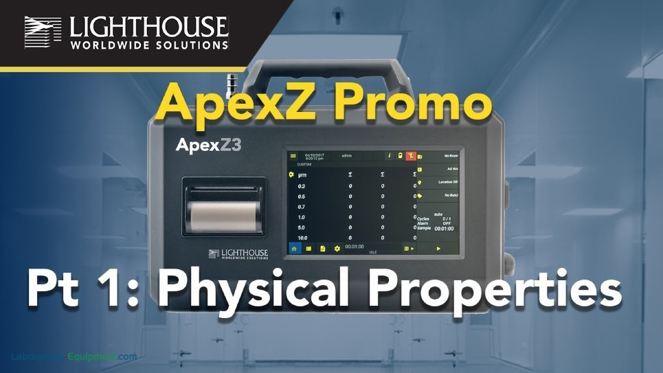 Physical Features of Lighthouse ApexZ Portable Airborne Particle Counters by LWS