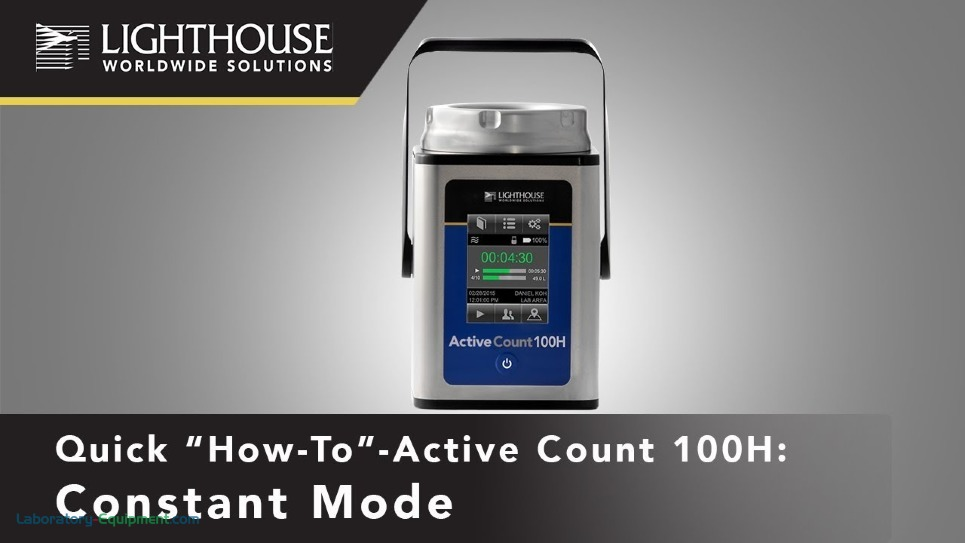 Constant Sampling using Lighthouse ActiveCount 100H Viable Microbial Air Sampler by LWS