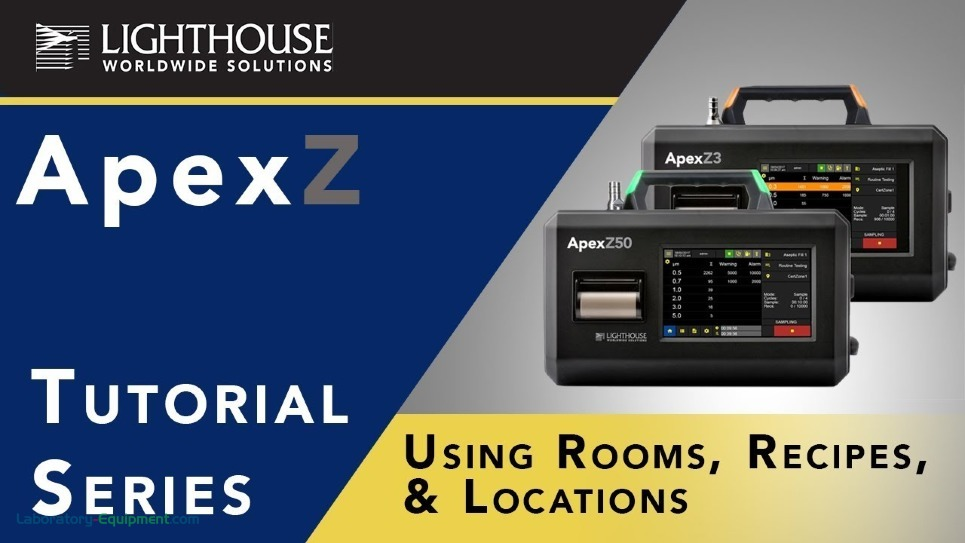 Using Room, Recipes & Locations on Lighthouse ApexZ Particle Counters by LWS