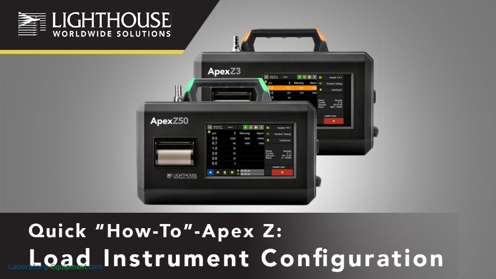 Load Instrument Configuration - ApexZ Portable Airborne Particle Counters by LWS