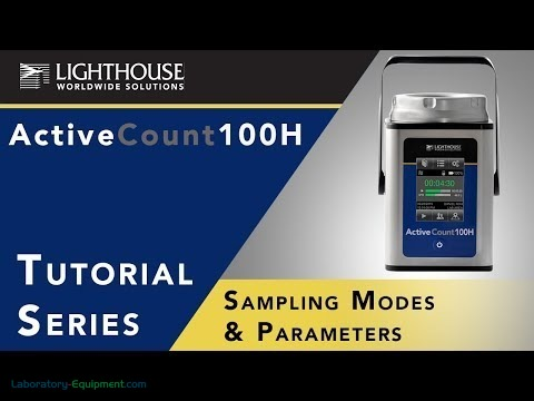 Sampling Models & Parameters of Lighthouse ActiveCount 100H Viable Microbial Air Sampler by LWS