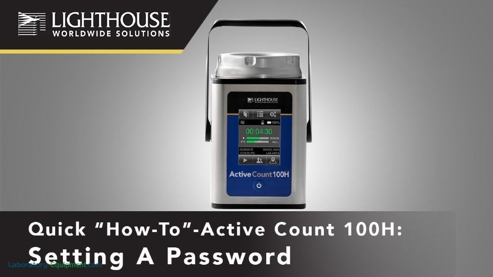 Set Up a Password using Lighthouse ActiveCount 100H Viable Microbial Air Sampler by LWS