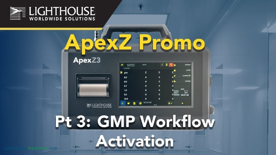 GMP Workflow Activation of Lighthouse ApexZ Portable Airborne Particle Counters by LWS