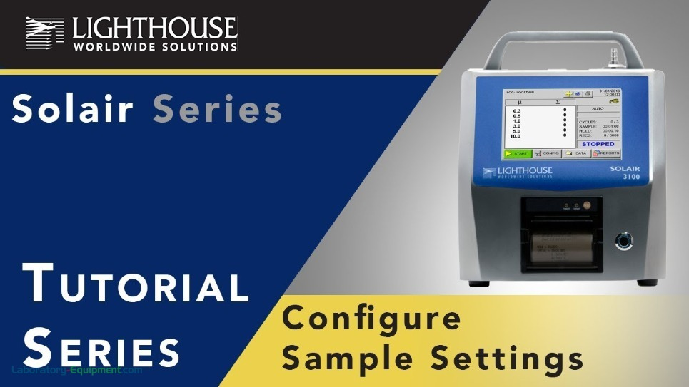 Solair Airborne Particle Counter Tutorial on Sample Settings by LWS