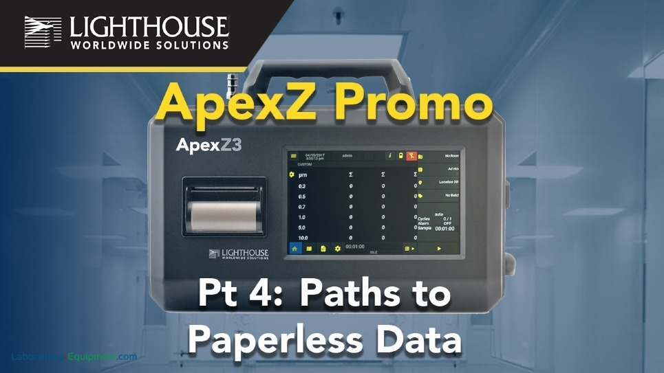 Paths to Paperless Data - Lighthouse ApexZ Portable Airborne Particle Counters by LWS