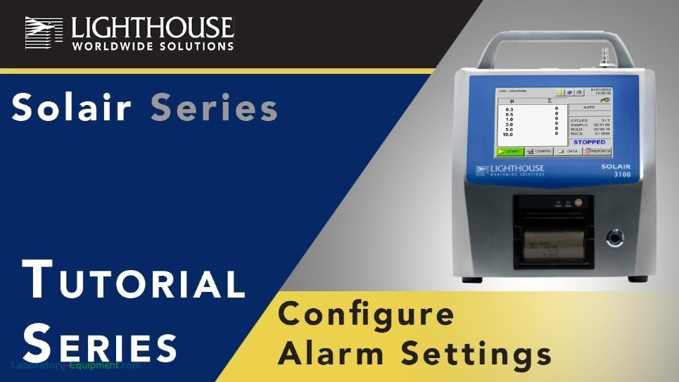Solair Airborne Particle Counter Tutorial on Alarm Settings by LWS