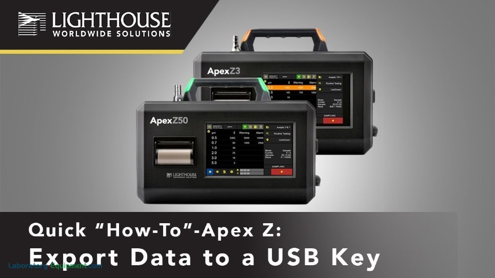 Exporting Data to USB Key - ApexZ Particle Counters by LWS