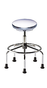 Adjustable-Height ISO 4 Cleanroom Stools by BioFit
