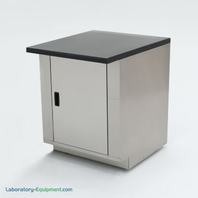 """24"""" wide stainless steel base cabinet with epoxy table top; ideal for biochemistry labs and proteomic research   1725-11 displayed"""