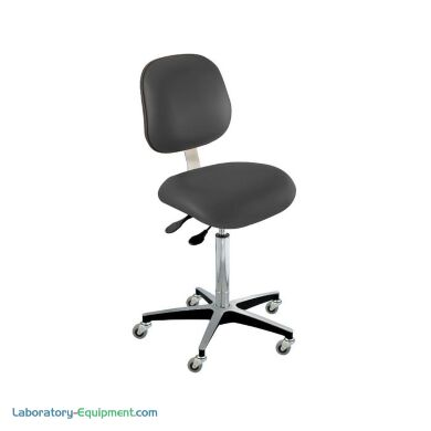 Type C Ergonomic Laboratory Chairs from BioFit feature a larger backrest, along with chrome-plated components and ergonomic adjustability   2801-69 displayed