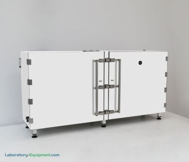 RH-controlled dry bulk storage cabinet with hygrometer