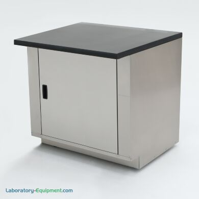 """36"""" wide stainless steel base cabinet with epoxy table top; ideal for biochemistry labs and proteomic research   1725-12 displayed"""