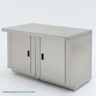 """48"""" wide stainless steel laboratory base cabinet with 2 doors  