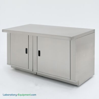 """60"""" wide stainless steel laboratory base cabinet with 2 doors 