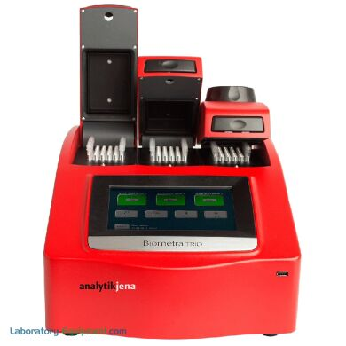 Biometra's TRIO PCR Thermal Cycler features three samples blocks to amplify separate assays in parallel