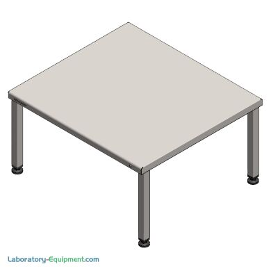 """High-capacity cleanroom gowning bench; 34""""W x 31""""D x 18""""H, 304 stainless steel   1540-36 displayed"""