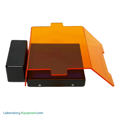 SmartBlue™Mini Transilluminator with detachable dual position amber filter cover for gel viewing and excising DNA bands