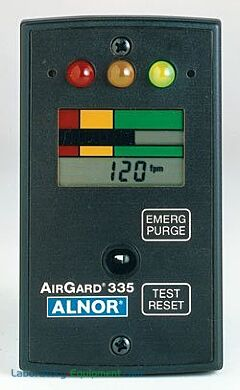 The AirGard® Air Velocity Monitor displays air velocity to ensure laminar airflow or ventilation   6704-65 displayed