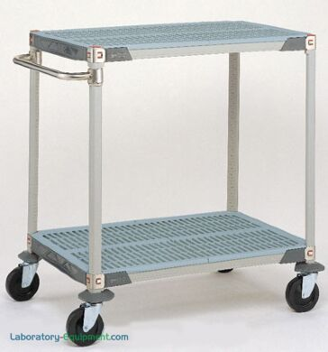Antimicrobial MetroMax i unit with 2 corrosion proof shelves, posts and handles | 1403-03 displayed
