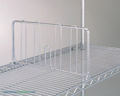Chrome-plated dividers enhance organization and protect material from sliding across shelves during transit   1301-86 displayed