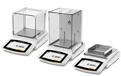 Modular Cubis II Precision Balances are available with a control unit, draft shield, ionizer or software on select models   5704-20 displayed