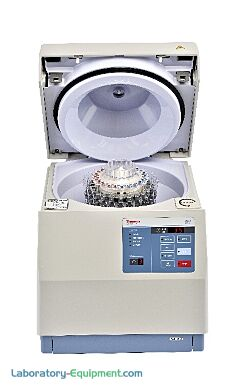 Automated cell washing centrifuge with a 12- or 24-place rotor with distributor provide immediate application or protocol flexibility