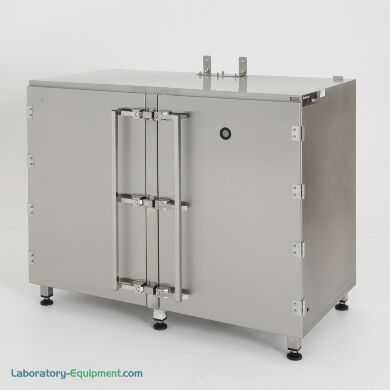 Drum storage desiccator cabinet, 304 stainless steel, with optional automatic gas-purge controller   1989-02A displayed