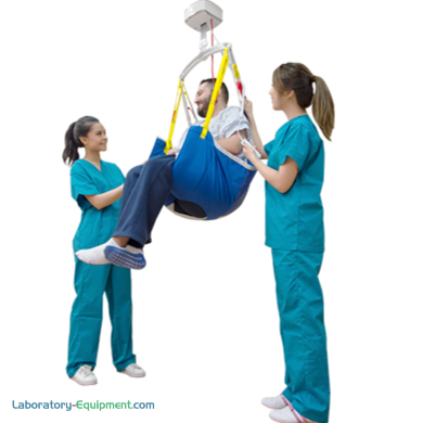 Compatible with GoLift patient handling, S-XL polyester and mesh slings are ideal for amputees and patients requiring additional support around the hips and thi