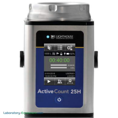 ISO 14698 compliant microbial air sampler with a HEPA filter exhaust, an 8 to 10-hour battery life and 25 L/min. flowrate for cleanrooms and aseptic environment   1510-55 displayed