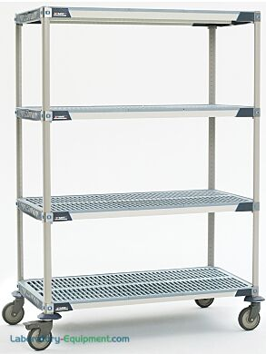 Microban antimicrobial protection built into shelves and touch points provide premium advanced polymer storage system ideal for chemical storage | 1403-02 displayed