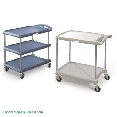 InterMetro two or three tier shelf utility cart with Microban protection   1532-13A displayed