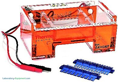 Owl EasyCast B1 Mini-Gel Horizontal Electrophoresis System with a 600 ml capacity includes a UVT gel tray, two combs and power supply     1017-05 displayed