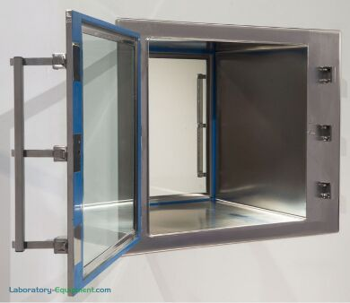 BioSafe® Pass-Through uses lift-off, autoclavable doors with inert polyurethane bio-seals - ideal for aseptic processes | 2636-75C displayed