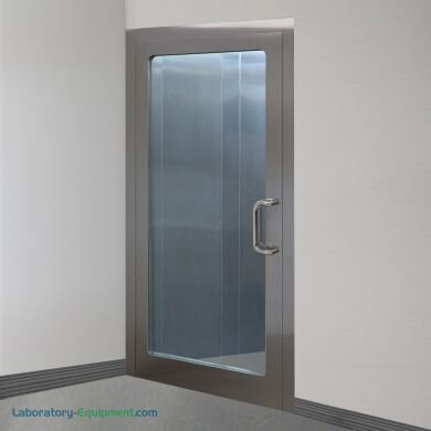 Left hand reverse stainless steel door with full view tempered glass window | 6603-83-R displayed