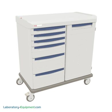 Antimicrobial medical double-bay mobile shelf with left and right bays | 1306-82 displayed