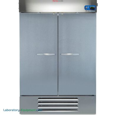 Energy-efficient 1387L TSG General Purpose Lab Freezer #TSG49FSSA by Thermo Fisher Scientific includes four stainless steel shelves; call for pricing