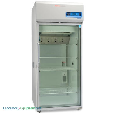 29.2 cu. ft. glass door chromatography refrigerator with a 3°C to 7°C temperature range and auto defrost; GMP Clean Room Class A / ISO 6 (ISO EN 14644-1) compat | 1620-94 displayed