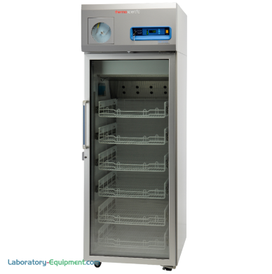 23.0 cu. ft. EnergyStar and GMP Clean Room compliant model for pharma and vaccine storage detects usage patterns; shown with optional chart recorder | 1621-21 displayed