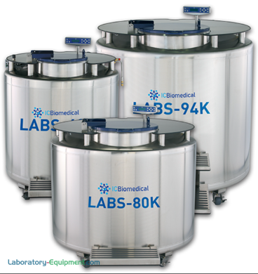 Available in four capacity sizes, models feature a single pivot turntable, a stainless steel table top for efficient LN2 storage in vapor or liquid phase | 6900-PP-03 displayed