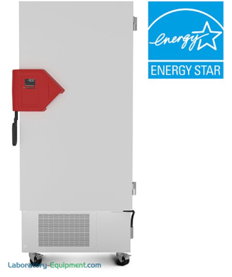 Energy-efficient 16.8 cu. ft. UFV Ultra-Low Temperature Freezer by BINDER with R-290 and R-170 with detachable inner doors and stainless steel interior | 6707-94 displayed