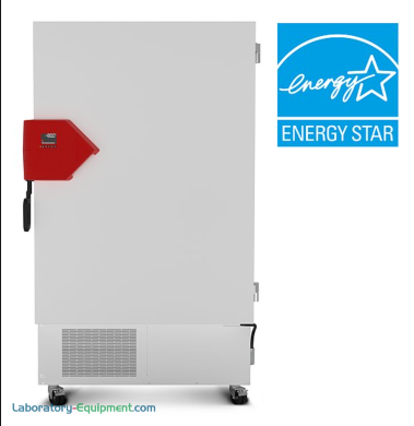 Energy-efficient 24.7 cu. ft. UFV Ultra-Low Temperature Freezer by BINDER with R-290 and R-170 with detachable inner doors and stainless steel interior | 6707-96 displayed