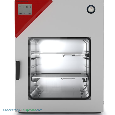 Explosion-proof 4.2 cu. ft. VDL-115 Vacuum Drying Chamber with ATEX-compliant safety feature ideal for drying flammable solvents; includes 2 expansion racks