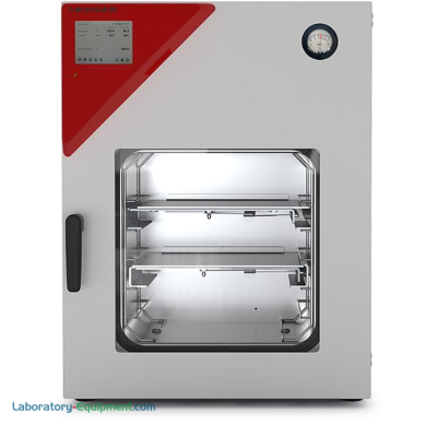 Explosion-proof 1.9 cu. ft. VDL-56 Vacuum Drying Chamber with ATEX-compliant safety feature ideal for drying flammable solvents; includes 2 expansion racks