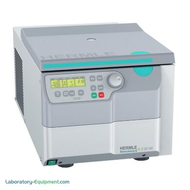 Z32 HK High Speed Refrigerated centrifuge by Hermle is a benchtop model with larger but more compactful motor drive   2824-48 displayed