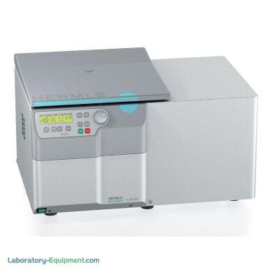 Hermle's Super Speed refrigerated centrifuge benchtop model   2824-49 displayed