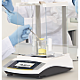 Models with a glass draft shield minimize weighing errors caused by electrostatically charged samples; available with external or isoCAL internal adjustment | 5706-PP-03 displayed