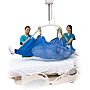 Compatible with GoLift patient handling systems, S-XL polyester and mesh slings reposition patients on the bed or transfer patients from stretchers