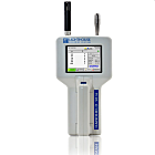Lightweight and ergonomic 6-channel airborne particle counter with a sensitivity range from 0.5 - 25.0 μm